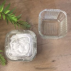 2 Federal Glass Refrigerator Dishes With 1 Lid